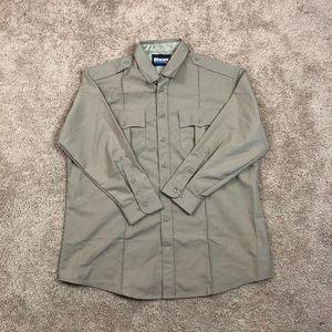 Khaki Blauer Button Down Shirt